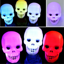 Flash Skull LED Lantern Night Light Lamp Halloween Xmas Party Decoration Props