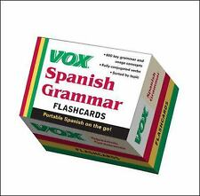 VOX Spanish Grammar Flashcards, .., Vox, Very Good, 2011-11-16,