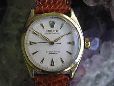 Rolex Oyster Perpetual 6084 Vintage 14K Gold Wrist Watch