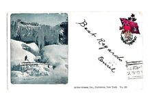 1898 Strauss POSTCARD CAVE of WINDS in WINTER NIAGARA Falls Canada 1 cent stamp