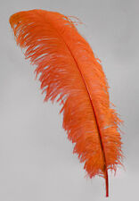 """2 ORANGE Ostrich FEATHERS 23-28"""" Full Wing PLUMES; Bridal/Wedding/Centerpiece"""