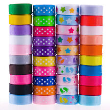 "40YDS bulk 40 style 3/8"" star dot foot funny grosgrain bow ribbon scrapbooking"