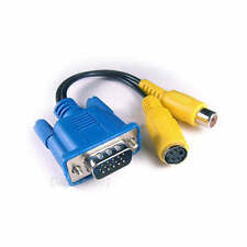 VGA D-Sub Male to S-Video RCA F Lead Cable Adapter Dell/IBM/HP PC Laptop TV-Out