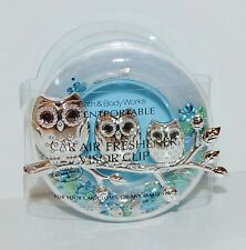 BATH BODY WORKS BLUE OWLS GLITTER SCENTPORTABLE HOLDER CAR VISOR CLIP FRESHENER