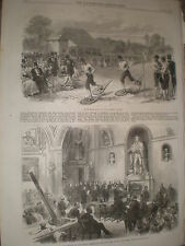 A Snow Shoe race at the Crystal Palace London 1867 old print