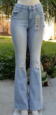 NEW!! NWT LEVIS High rise Flare destroyed knees Womens Jeans Sz 27 x 32