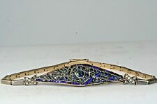 EARLY 1900'S RUSSIAN IMPERIAL ANTIQUE 14K GOLD SILVER DIAMOND SAPPHIRE BRACELET