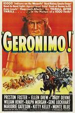 """'GERONIMO"" 1939 classic - Preston Foster - Gene Lockhart - Apache Wars! - DVD"