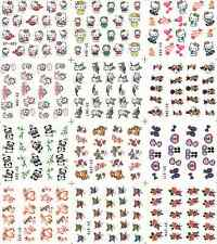 12 Design Cartoon Decals Water Transfer Nail Sticker Set Nail Art NS160