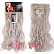 US Real Thick Clip In Hair Extensions Long Straight Full Head Hair Extentions