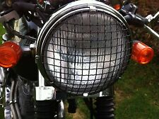 "5 3/4"" motorcycle HEADLIGHT STONE GUARD mesh grill cover FLAT BLACK  5.75"" 6"""