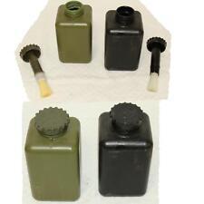 7x Behälter / Flasche Deckelpinsel, Bundeswehr Dekontaminationssatz oliv/schwarz