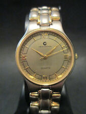 A96 NEW Swiss Movement JB CHAMPION Gold Silver Dress St Steel Band WATCH VINTAGE