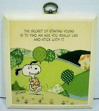 Hallmark Peanuts Snoopy Secret of Staying Young Plaque