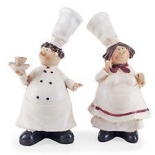 Lucy & Leonard the Fat Chef Statue Figurine Home Decor Kitchen Ornaments