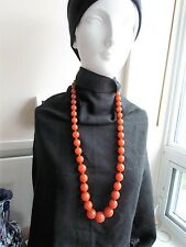 114g Honey Faux Amber Bakelite Graduated necklace Bead Craft Vintage plastic