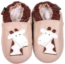shoeszoo giraffe cream 0-6m S soft sole leather infant baby shoes