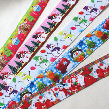 "5YARDS 7/8"" Grosgrain Ribbon Merry Christmas Santa X'mas Decor Craft Mix R0527"