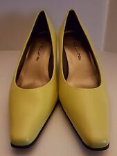 Bellini Women's Shoes Classic Yellow Leather Pumps Style Julia00 Size 8.5M