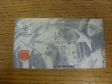 27/09/2000 Ticket: Arsenal v Lazio [Champions League] .  Thanks for viewing our