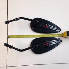 HTT GROUP Black Aluminum Skull Mirror Harl Sportster Low Glide FXRS FXRT Softail