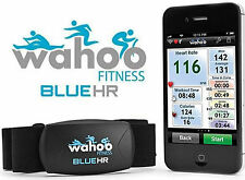 Wahoo Fitness Blue HR Heart Rate Monitor for iPhone Android Bluetooth WFBTHR01