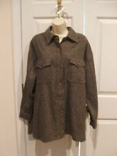new in pkg  ELEMENTS*  tweed classic shirt Jacket/Shirt made in USA NWOT  medium