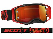 MASCHERA MASCHERINA MX CROSS SCOTT MX GOGGLE PROSPECT BLACK RED FLUO SPECCHIO