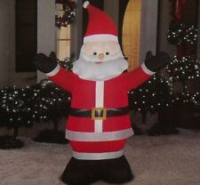 CHRISTMAS OUTDOOR LED LIGHTED AIRBLOWN INFLATABLE SANTA CLAUS FIGURE 6FT YARD