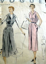 LOVELY VTG 1950s DRESS VOGUE Sewing Pattern 12/30