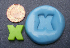 "Reusable Letter ""X"" Silicone Food Safe Mould, Mold, Sugarcraft, Jewellery, Cake"