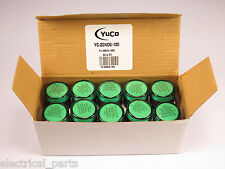 BOX OF 10 YuCo YC-22NCG-120 LED Pilot Light Panel Light Indicator 22mm 120V AC