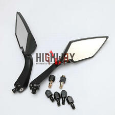 Black Rearview Mirror 8mm 10mm Spear Side View Mirror For Motorcycle Cruiser