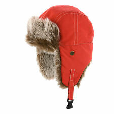 Trapper Hat Russian Ushanka Sherpa Cossack Faux Fur Warm Winter Ski Showerproof