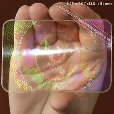 Security Hologram? 25 ID Cards Security Hologram Overlay Stickers with Micro