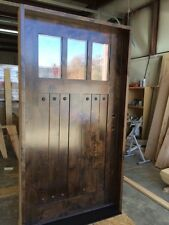 "CRAFTSMAN KNOTTY ALDER ENTRY DOOR 36""X80"" 3 LITE"