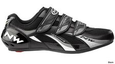 NORTHWAVE FIGHTER ROAD CYCLING SPD CLIPLESS SHOES EU39 NEW 30% OFF BLACK