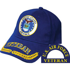 United States Air Force Veteran Hat Wreath Leaf Blue Cap USAF
