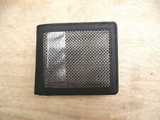 Leather wallet with carbon fiber panel and F1 pictures on lining