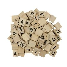500 SCRABBLE TILES *NEW Wood Scrabble Letters* With Pouch Crafts Spelling Pieces