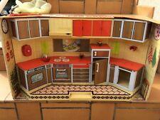 jouet ancien 70's en tôle cuisine SUPER COCINA RICO maison de poupée dinette