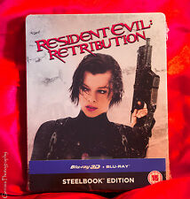 RESIDENT EVIL: Retribution 3D + 2D Limited Edition Collector's Steelbook™ NEW