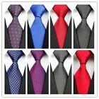 COM25 Black Blue Red Black Purple Pure Polka Dot Classic Silk Men's Tie Necktie