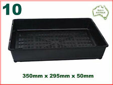 Seedling Tray - Plastic Garden Plant Pot Carry Tray x10