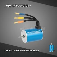 High Quality 3650 3100KV 4 Poles Sensorless Brushless Motor fr 1/10 RC Car G14E