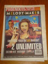 MELODY MAKER 1994 MAY 14 2 UNLIMITED PULP ERASURE SNOOP CULTURE BEAT