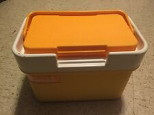 Vintage Orange Yellow Thermos Sun Packer Cooler Ice Chest Lunchbox Model 7710