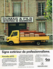 PUBLICITE ADVERTISING 045  1986   MERCEDES-BENZ  409D