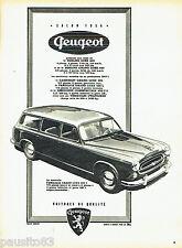 PUBLICITE ADVERTISING 026  1956  Peugeot  la 403L  familiale grand luxe