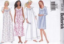 Butterick Easy Sewing Pattern Misses' Nightgown sizes XS S M B6838
